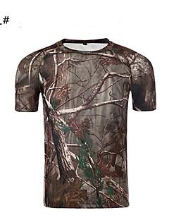tanie Koszulki turystyczne-Koszulka myśliwska moro Dla obu płci Wodoodporny Quick Dry Oddychający kamuflaż Szczupła Klasyczny T-shirt Topy Krótki rękaw na Camping &
