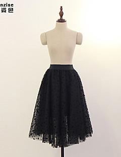 Χαμηλού Κόστους Γυναικεία Παντελόνια & Φούστες-Γυναικεία Γραμμή Α Φούστες - Μονόχρωμο, Τούλι