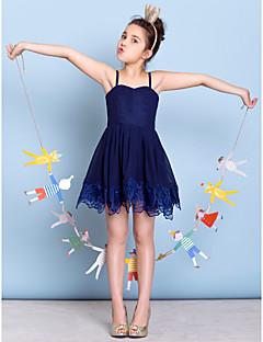 お買い得  ジュニアブライドメイドドレス-Aライン キャミソール ショート / ミニ シフォン レース とともに ジュニアブライドメイドドレス 〜によって