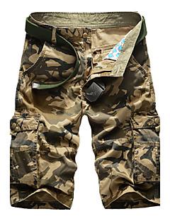 メンズ ヴィンテージ ミッドライズ リラックス ショーツ 伸縮性なし リラックス ショーツ パンツ カモフラージュ