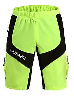billige Sykkelbukser,Shorts,Strømpebukser, Tights-CoolChange Herre Sommer Sykling Shorts Shorts Pustende/Lettvektsmateriale Grønn Fritidssport/Sykling S/M/L/XL/XXL