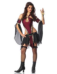 billige Halloweenkostymer-Vampyrer Cosplay Kostumer Dame Halloween Karneval Festival / høytid Halloween-kostymer Drakter / Chiffon