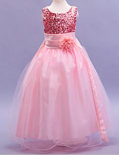 Girl's Summer/Winter/Spring/Fall Inelastic Medium Sleeveless Dress (Cotton/Mesh/Polyester)