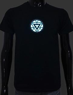 LED T-Shirts Sound aktiviert LED-Licht Baumwolle Neuheit hohe Qualität