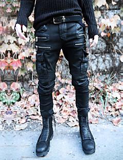 A bărbaților Pantaloni Drăguți Altele Pur Casual Negru