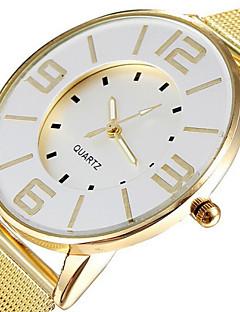 Damen Modeuhr Armbanduhren für den Alltag Quartz Legierung Band Gold