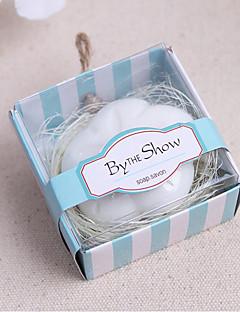 Χαμηλού Κόστους Μπομπονιέρες Σαπούνι-100% Όλο φυσικά συστατικά Πρακτικές Μπομπονιέρες-1 Μπάνιο & Σαπούνια Άνθινο Θέμα Λευκό 6*6*3.5cm