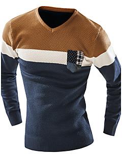 tanie Męskie swetry i swetry rozpinane-Męskie Okrągły dekolt Długi Pulower Zwierzę Długi rękaw