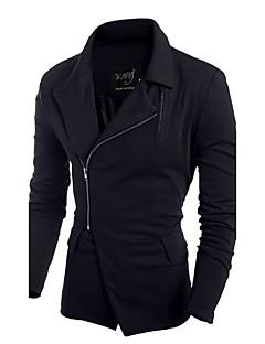 お買い得  メンズジャケット&コート-男性用 プレイン カジュアル トレンチコート,長袖 その他,ブラック / レッド / グレー