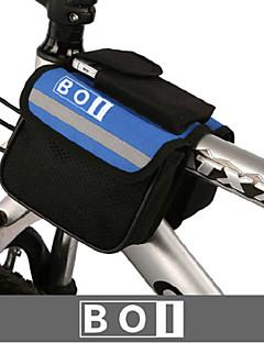 BOI® Bolsa de Bicicleta 1.9LBolsa para Guidão de BicicletaÁ Prova-de-Água / Zíper á Prova-de-Água / Camurça de Vaca á Prova-de-Choque /