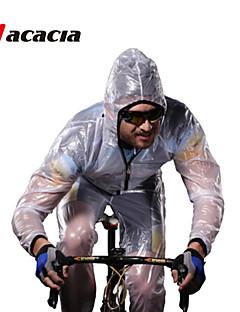 billige Sykkelklær-Acacia Langermet Sykkeljakke - Hvit Grønn Grå Sykkel Klessett, Vanntett, Fort Tørring, Pustende, Refleksbånd
