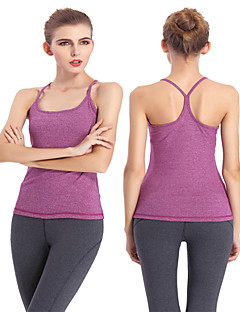 billige Løbetøj-Dame Sports-BH Uden ærmer Fugtpermeabilitet, Svedreducerende, letvægtsmateriale Vest / Tank Tops / Toppe for Yoga / Pilates / Træning &