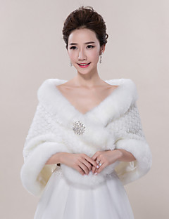 cheap -Sleeveless Faux Fur Wedding Party Evening Casual Wedding  Wraps Fur Wraps Shawls