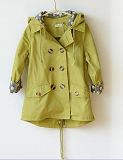 Χαμηλού Κόστους Καμπαρντίνες για κορίτσια-Κορίτσια Μπλούζα με Κουκούλα & Φούτερ / Μπουφάν & Παλτό / Καμπαρντίνα Μείγμα Βαμβακιού Μονόχρωμο Χειμώνας / Φθινόπωρο Πράσινο