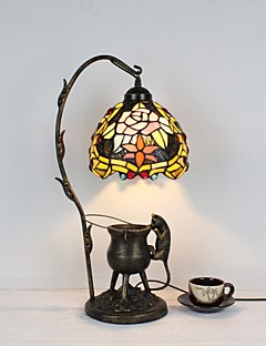 tanie Lampki nocne-Muślin / Rustykalny / Tradycyjny / Classic Różnokolorowe cienie Lampa stołowa Na Metal 110-120V / 220-240V