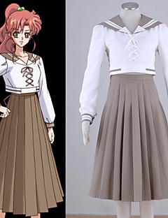 """billige Anime Kostymer-Inspirert av Sailor Moon Sailor Jupiter Anime  """"Cosplay-kostymer"""" Cosplay Klær Lapper Topp / Skjørte Til Dame Halloween-kostymer"""