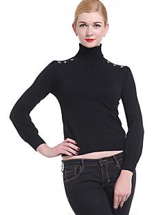 tanie Swetry damskie-Damskie Golf Pulower Jendolity kolor Długi rękaw