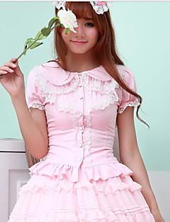 billiga Lolitamode-Blus/Skjorta Söt Lolita Vit Svart Rosa lolita tillbehör FRP