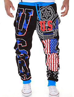cheap Sweatpants-Men's Active Loose / Active / Relaxed Pants - Print / Letter Black / Sports / Weekend