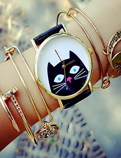 billige Armbåndsure-Dame Quartz Armbåndsur Kronograf PU Bånd Elegant Mode Sort Hvid Grøn Pink Beige