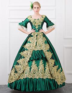 billiga Lolitaklänningar-Queen Victoria Gotisk Lolita Rokoko Barock Victoriansk Spets Satin Dam Klänningar Cosplay Lång längd Kostymer