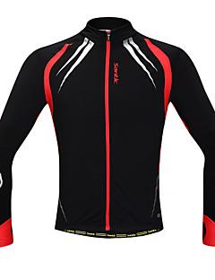 SANTIC Cyklo bunda Pánské Dlouhé rukávy Jezdit na kole sako Dres Vrchní část oděvuZahřívací Větruvzdorné Anatomický design Zateplená