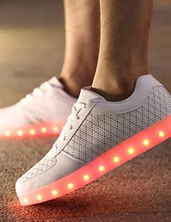 Χαμηλού Κόστους -Ανδρικά Φωτιστικά παπούτσια Δέρμα Άνοιξη / Φθινόπωρο Ανατομικό Αντιολισθητικό Λευκό