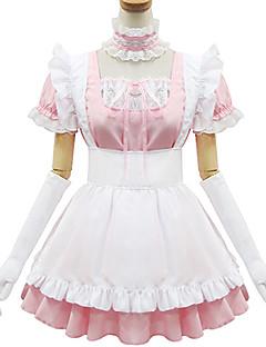 Söpö Lolita Prinsessa Naisten Siivujan Asut Cosplay Vaaleanpunainen Lyhythihainen