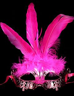 billige Halloweenkostymer-Karneval Maske Maskerade Herre Dame Halloween Karneval Festival / høytid Halloween-kostymer Blå Gull Rød Lilla Rose Ensfarget