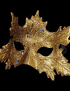 billige Masker-Karneval Maske Herre Dame Jul Halloween Karneval Festival / høytid Drakter Sølv / Rød / Rose
