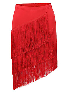 cheap New Arrivals-Latin Dance Tutus & Skirts Women's Performance Spandex Draping Tassel Skirt