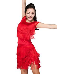 Latin Dans Drakter Dame Yteevne Spandex / Polyester Dusker 2 deler الالتفاف / TopTops length S:51cm / M:56cm / L:59cm Skirt length S:52cm