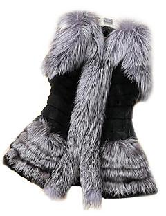 Χαμηλού Κόστους -Γυναικεία Παλτό Εξόδου Μονόχρωμο, Κλασσικό Ψεύτικη Γούνα