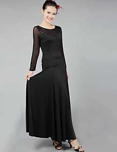 Standardní tance Šaty Dámské Výkon elastan Nařasený Jeden díl Šaty Dress length S-XXXL: 130cm