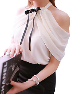 Sexy Summer Blouse,Solid Sleeveless Polyester Nylon Thin