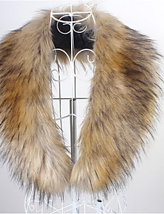 cheap Wedding Wraps-Sleeveless Faux Fur Party Evening Casual Faux Leather Fur Accessories Fur Wraps Collars