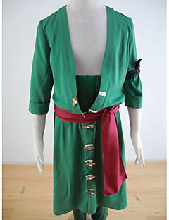 """billige Anime Kostymer-Inspirert av One Piece Roronoa Zoro Anime  """"Cosplay-kostymer"""" Cosplay Klær Ensfarget Frakk / Bukser / Armbind Til Herre Halloween-kostymer"""