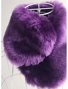 cheap Wedding Wraps-Sleeveless Faux Fur Wedding Party Evening Casual Office & Career Faux Leather Fur Accessories Shawls Scarves