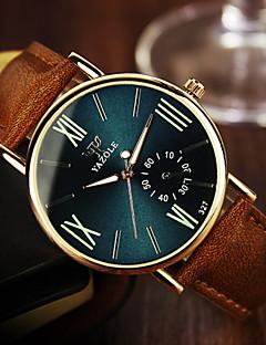 お買い得  有名ブランド腕時計-YAZOLE 男性用 リストウォッチ クォーツ カジュアルウォッチ レザー バンド カジュアル ブラウン