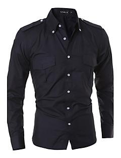 お買い得  メンズシャツ-男性用 シャツ ソリッド コットン