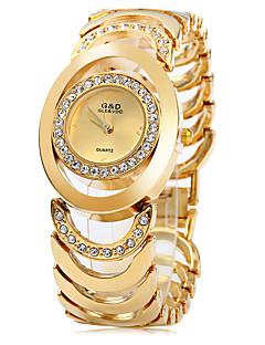 Kadın's Bilezik Saat Moda Saat Quartz Paslanmaz Çelik Bant Zarif Gümüş Altın Rengi