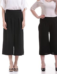 baratos Ponta de Estoque-Mulheres Clássico Perna larga Jeans Calças - Sólido