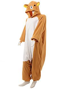 Kigurumi Pyjamas Bjørn Vaskebjørn Kostume Oransje Polar Fleece Kigurumi Trikot / Heldraktskostymer Cosplay Festival / høytid Pysjamas med