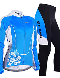 cheap Cycling Jersey & Shorts / Pants Sets-Nuckily Cycling Jersey with Tights Women's Long Sleeves Bike Clothing Suits Windproof Anatomic Design Moisture Permeability Front Zipper