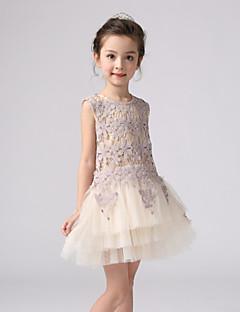 Girl's White Dress,Ruffle Acrylic All Seasons