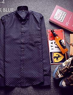 billige Herremote og klær-Polyester Trykt mønster Fritid/hverdag Plusstørrelser Arbeid Herre
