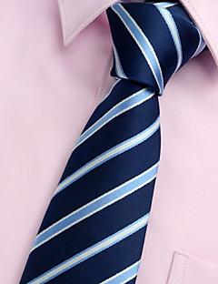 billige Slips og sløyfer-Herre Fest / Kontor / Grunnleggende Slips Stripet Polyester / Blå