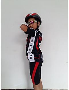 billige Sykkelklær-GETMOVING Kortermet Sykkeljersey med shorts - Rød Svart / Svart / Rød Sykkel Shorts / Jersey / Klessett, Anatomisk design, Pustende Spandex Tynn / Elastisk