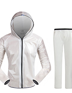 cheap Cycling Jersey & Shorts / Pants Sets-Acacia Long Sleeves Cycling Jacket with Pants - White Gray Green Blue Geometic Bike Waterproof, Quick Dry, Breathable, Reflective Strips