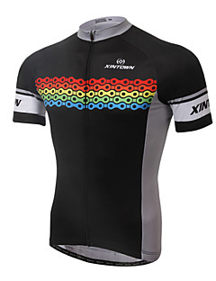 cheap Cycling Jerseys-XINTOWN Cycling Jersey Men's Short Sleeves Bike Jersey Top Quick Dry Ultraviolet Resistant Breathable Limits Bacteria Elastane Terylene